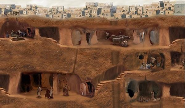 derinkuyu la ciudad extraterrstre subterranea Ahura Mazda