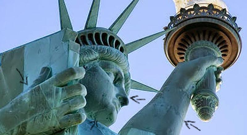 estatua de la libertad es un hombre