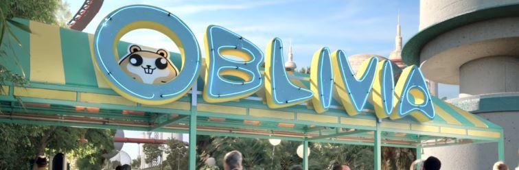 el parque de diversiones que Katy Perry visita se llama Oblivia
