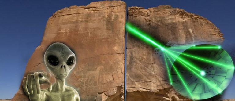Al Naslaa, la misteriosa roca con un cortada por extraterrestres
